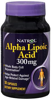 Natrol Alpha Lipoic Acid 300 mg - 50 Capsules