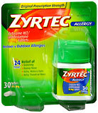 Zyrtec Allergy 10 mg Tablets - 30 TB