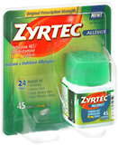 Zyrtec  24 Hour Allergy 10 mg Tablets - 45 Tablets