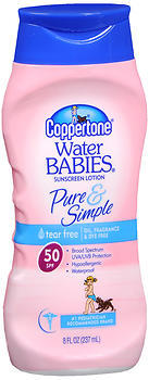Coppertone Water Babies Pure & Simple Sunscreen Lotion SPF 50 - 8 OZ
