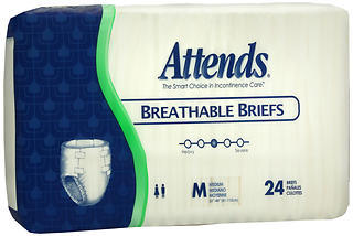 Attends Breathable Briefs Medium - 4 PACK x 24 EA