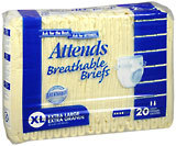 Attends Breathable Briefs Extra Large - 3 Pack x 20 EA