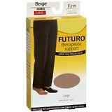 FUTURO Therapeutic Support Thigh High Open Toe Firm Large Beige - 1 PR