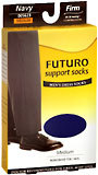 Futuro Support Socks Men's Firm Medium Navy - 1 Pair