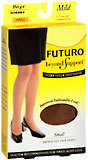 FUTURO Beyond Support Ultra Sheer Pantyhose French Cut Mild Small Beige  -  1 PR
