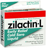 Zilactin-L Cold Sore Liquid Maximum Strength - 0.2 OZ