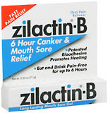 Zilactin-B Mouth Canker Sore Gel - 0.25 Ounces