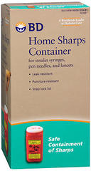 B-D Home Sharps Container - 1 Each