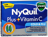 NyQuil Plus Vitamin C Cold & Flu Caplets - 10 CP