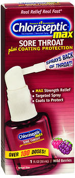 Chloraseptic Max Sore Throat Spray Wild Berries - 1 OZ