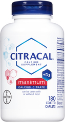 Citracal Calcium Citrate With Vitamin D Coated Caplets - 180 CP