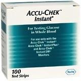 Accu-Chek Test Strips Instant - 100 Each.
