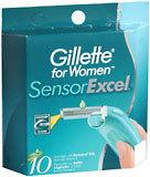 Gillette Sensor Excel Cartridges Women's 10-Pack - 10 Each