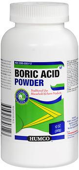 Humco Boric Acid Powder 12 Ounces