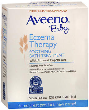 Aveeno Soothing Baby Bath Treatment, Fragrance Free  - 5ea
