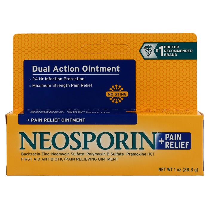 Neosporin First Aid Antibiotic/Pain Relieving Ointment Plus Pain Relief, Maximum Strength  - 1oz