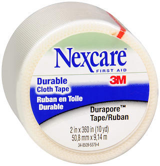 3M Nexcare Durapore Cloth First Aid Tape 2 Inches X 10 Yards - 10 YD