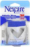 "3M Nexcare Self-Adhering Athletic Wrap 3"""" X 5 Yards Blue 3X5 Pack - 5 YD"