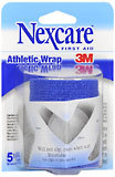 "3M Nexcare Self-Adhering Athletic Wrap 3"""" X 5 Yards Blue 3X5 Pack - 5 YD"