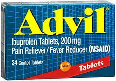 Advil Ibuprofen, 200 mg, Coated Tablets  - 24ea