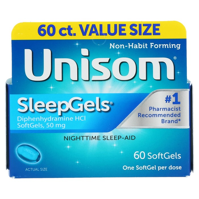 Unisom SleepGels - 60 Count - SoftGels (50mg each)