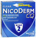 NicoDerm CQ Stop Smoking Aid, 14 mg, Patch, Step 2, 2 Week Kit  - 14ea