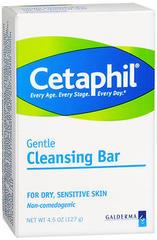 Cetaphil Gentle Cleansing Bar for Dry/Sensitive Skin  - 4.5oz