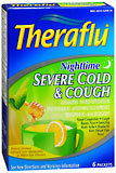 Theraflu Severe Cold & Cough Nighttime Packets Honey Lemon Flavor - 6 EA