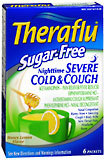 Theraflu Sugar-Free Nighttime Severe Cold & Cough Packets Honey Lemon Flavor - 6 EA