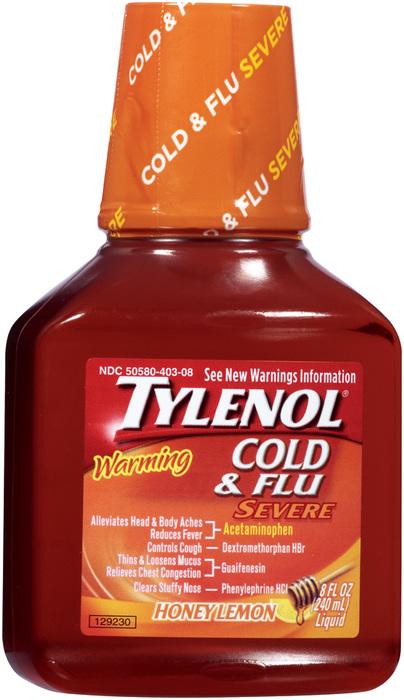 TYLENOL Warming Cough & Severe Congestion Liquid Daytime - 8 OZ