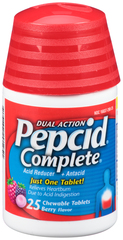 Pepcid Acid Reducer + Antacid with Dual Action, Berry Flavored  - 25ea