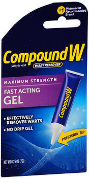Compound W Wart Remover, Maximum Strength, Fast-Acting Gel  - 0.25oz