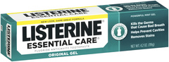 Listerine AntiPlaque AntiGingivitis and AntiCavity Fluoride Toothpaste, Mint Gel, Bonus  - 4.2oz
