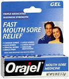 Orajel Mouth Sore Medicine Gel, Triple Medicated  - 0.18oz