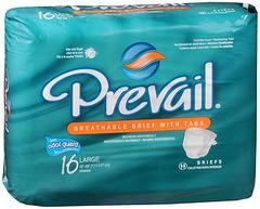 Prevail Briefs Large - 4 x 16 pack (64 units each)