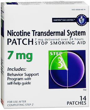 Novartis Nicotine Transdermal System Patch 7 mg Step 3 - 14 EA