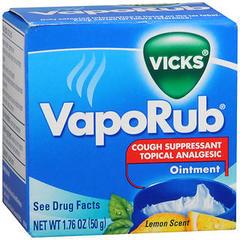 Vicks VapoRub Ointment Lemon Scent - 1.76 OZ