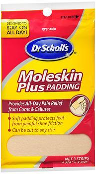 Dr. Scholl's Moleskin Plus - 3 Each