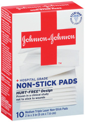 BAND-AID Non-Stick Pads Medium 2 inch x 3 inch