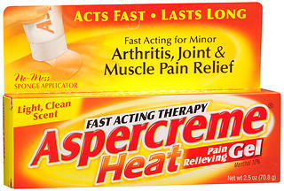 ASPERCREME Heat Pain Relieving Gel - 2.5 OZ