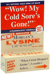 Morgan's Lysine Lip Balm - 0.17 Ounce