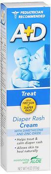 A+D Diaper Rash Cream with Zinc Oxide  - 4oz