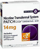 Nicotine Transdermal System Patch 14 mg Step 2 7-Pack - 7 Each