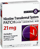 Nicotine Transdermal System Patch 21 mg Step 1 7-Pack - 7 Each