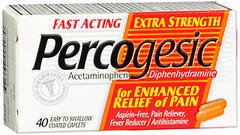 Percogesic Aspirin-Free Antihistamine, Extra Strength, Coated Caplets  - 40ea