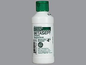 Betasept Antiseptic Surgical Scrub - Chlorhexidine Gluconate 4% - 8 Ounces