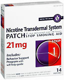 Nicotine Transdermal System Patch 21 mg Step 1 14-Pack - 14 Each