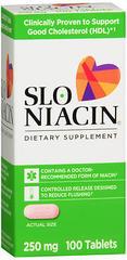 Slo-Niacin Polygel Controlled-Release Niacin, 250 mg, Tablets  - 100ea
