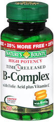 Nature's Bounty Vitamin B-Complex + C Tablets Time Release - 100 Tab