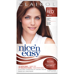 Nice 'n Easy Haircolor with Built-In Highlights, Level 3 Permanent, Natural Dark Auburn 112  - 1ea